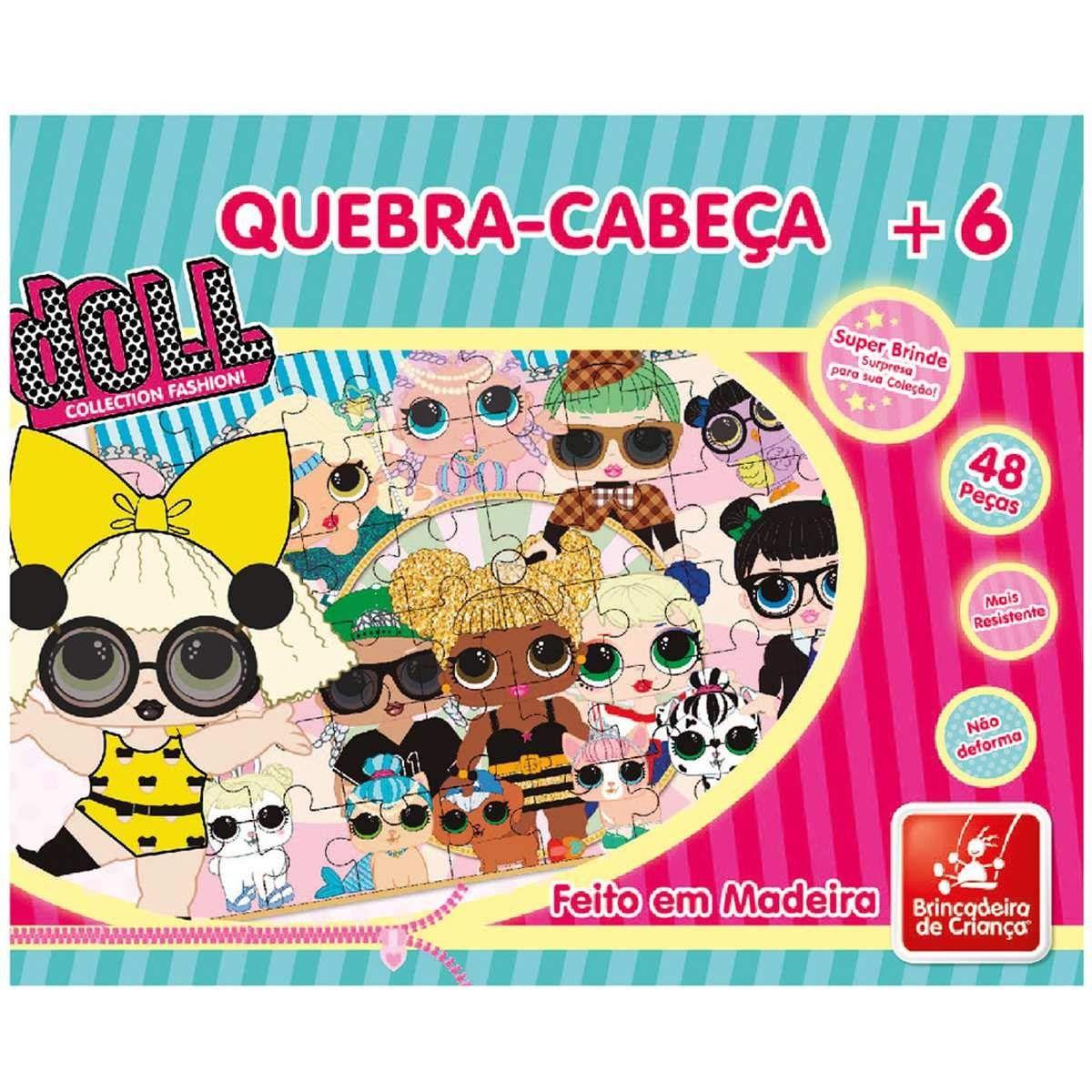 Quebra-cabeça Doll 48 Peças em Madeira - Brincadeira de Criança