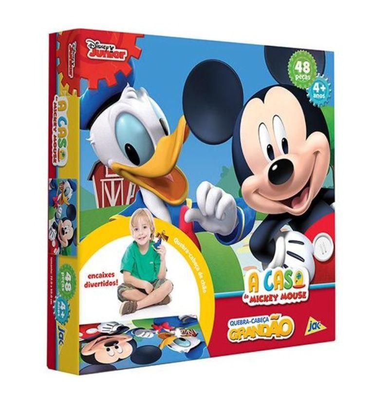 Quebra-cabeça Grandão Disney Junior A Casa do Mickey Mouse - Jak