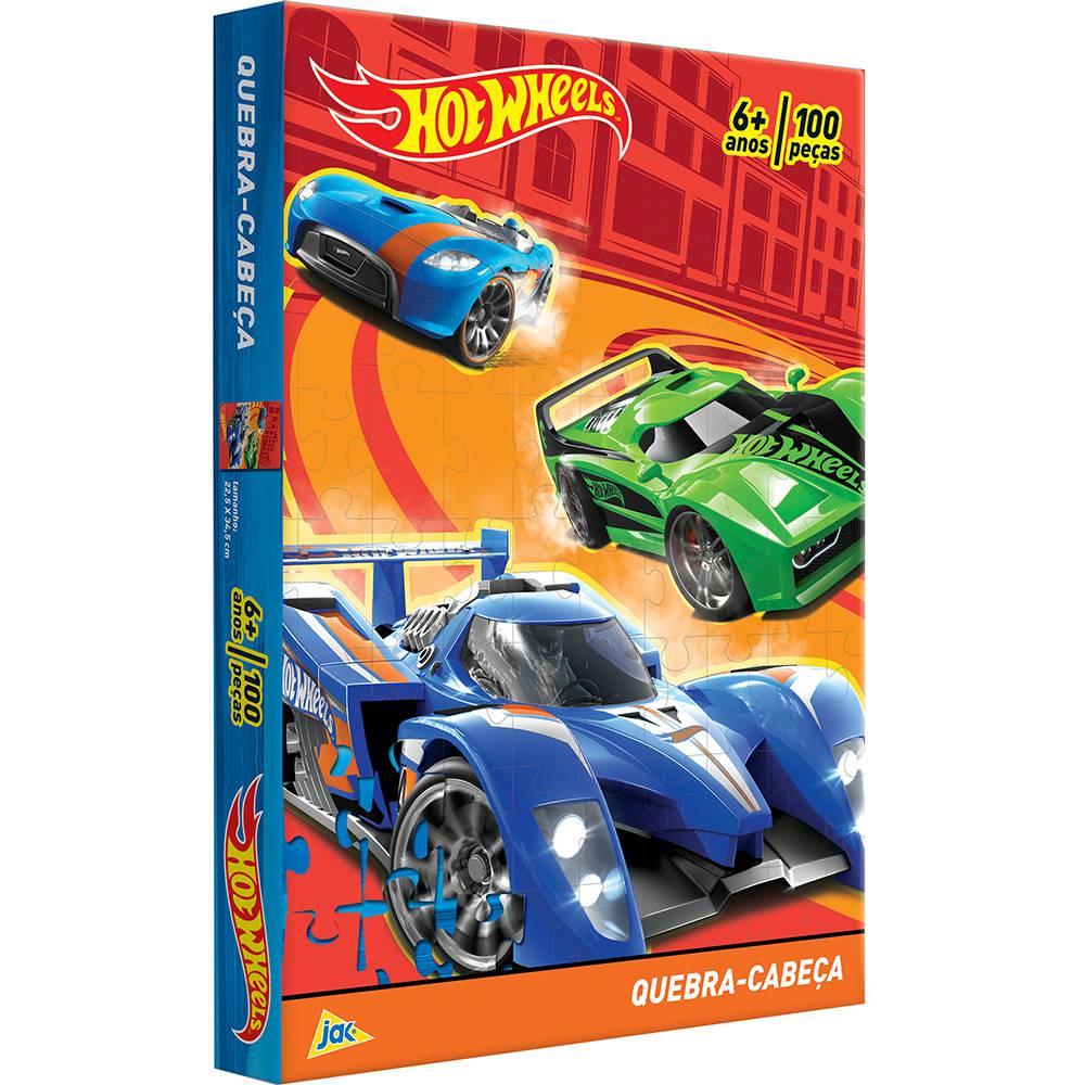 Quebra-cabeça Hot Wheels 100 Peças - Jak
