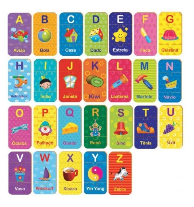 Quebra-cabeça Letras do A ao Z em Madeira - Brincadeira de Criança