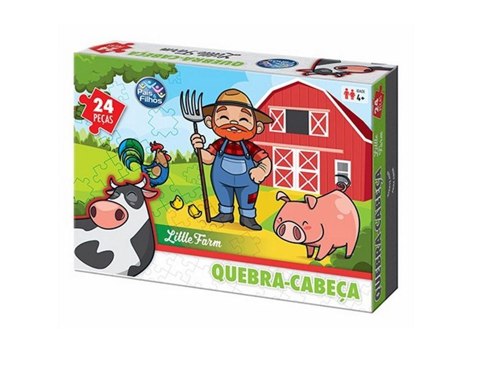 Quebra-cabeça Little Farm 24 Peças - Pais e Filhos