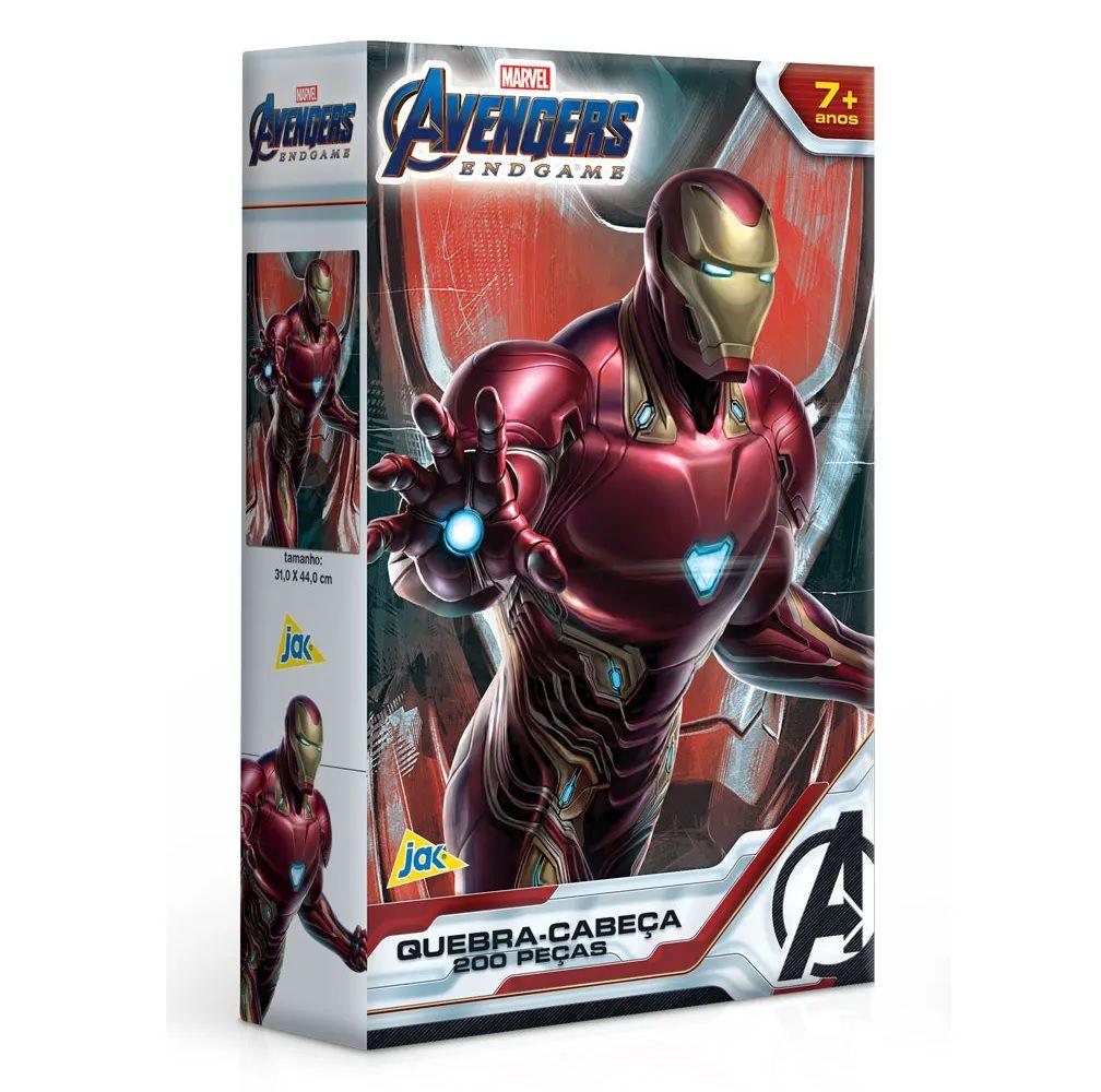 Quebra-cabeça Marvel Avengers Endgame Homem de Ferro 200 Peças - Jak