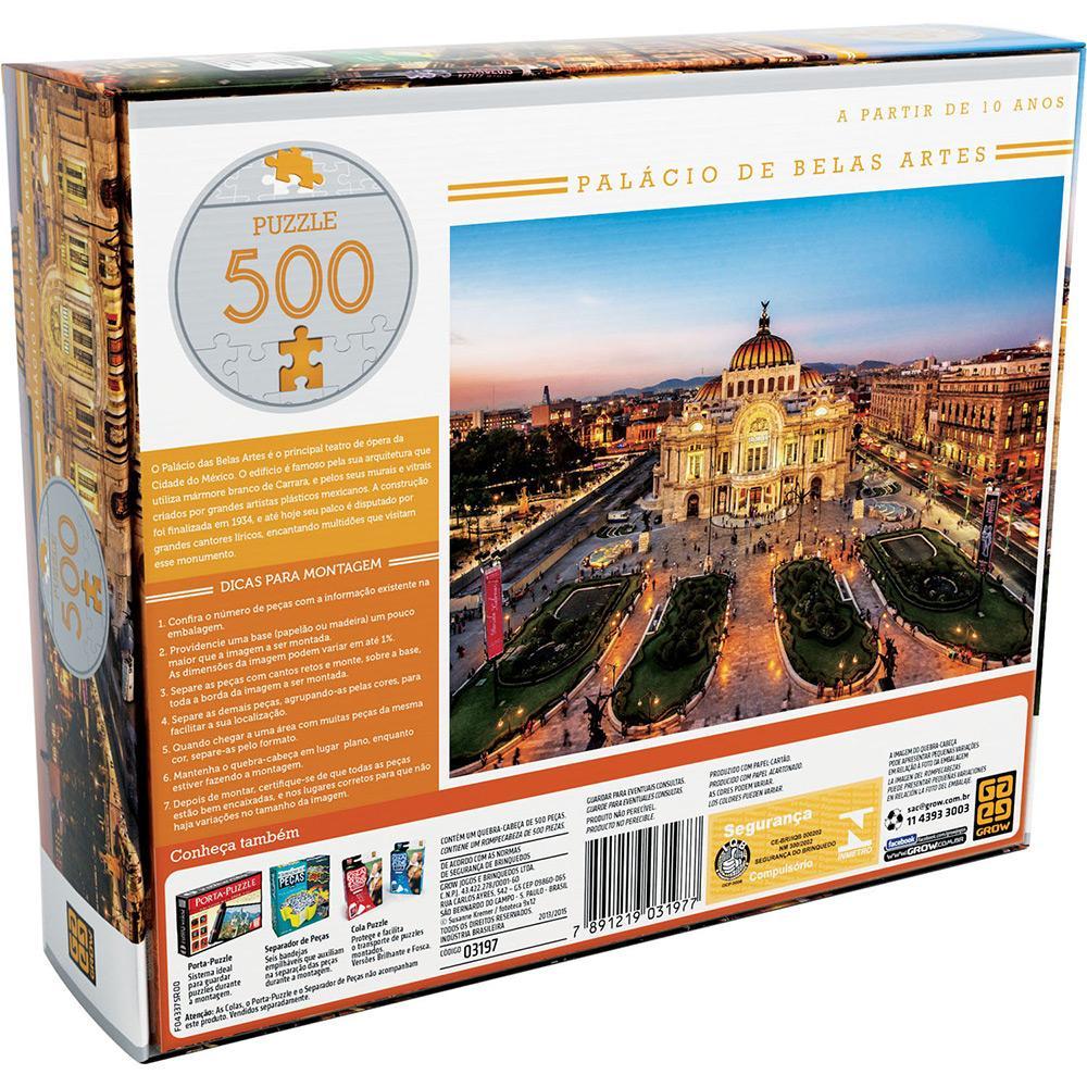 Quebra-cabeça Palácio de Belas Artes Puzzle 500 Peças - Grow