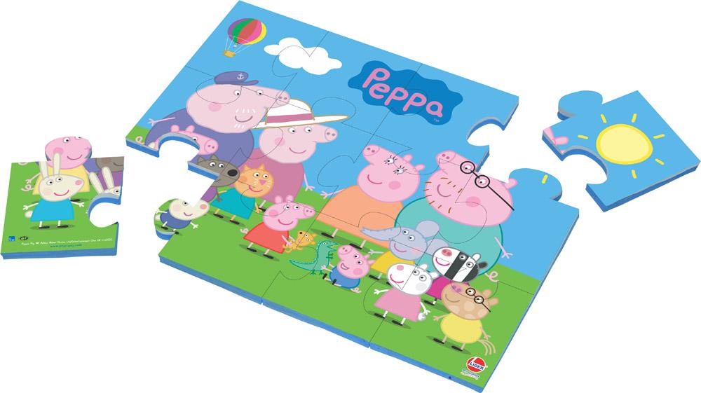 Quebra-cabeça E.V.A Peppa Pig 12 Peças - Lider Brinquedos
