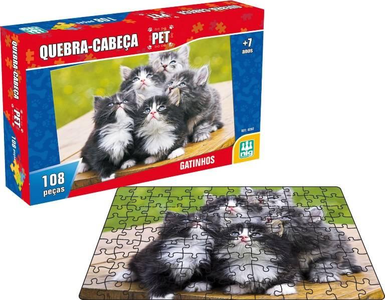Quebra Cabeça Pet Gatinhos - Nig Brinquedos