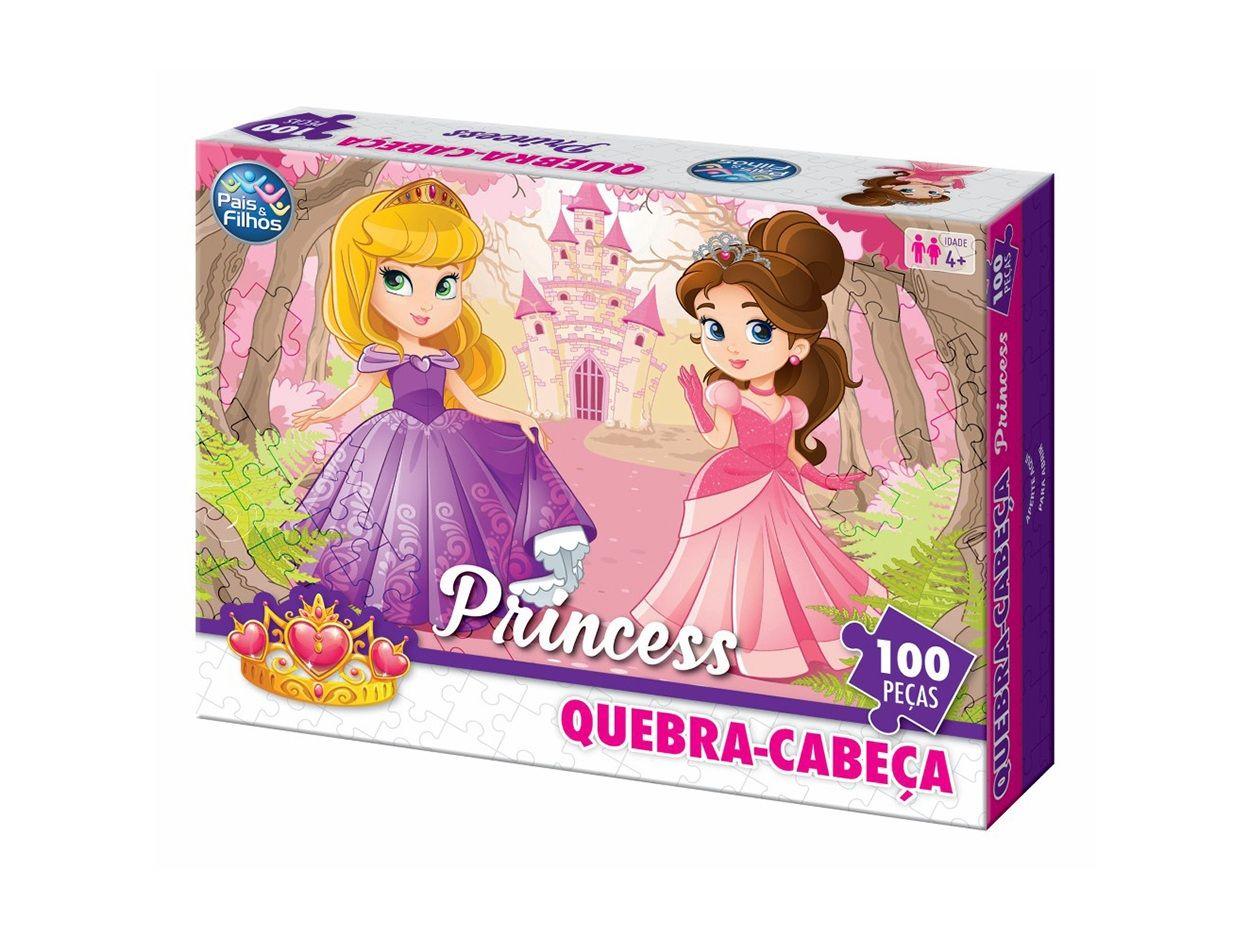 Quebra-cabeça Princess 100 Peças - Pais e Filhos