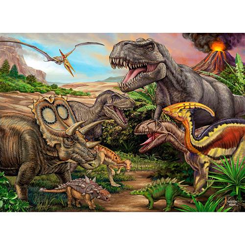 Quebra Cabeça Dinossauros Puzzle com 100 Peças - Grow