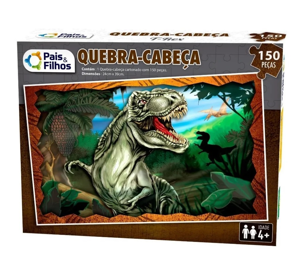 Quebra-cabeça T-Rex 150 Peças - Pais e Filhos