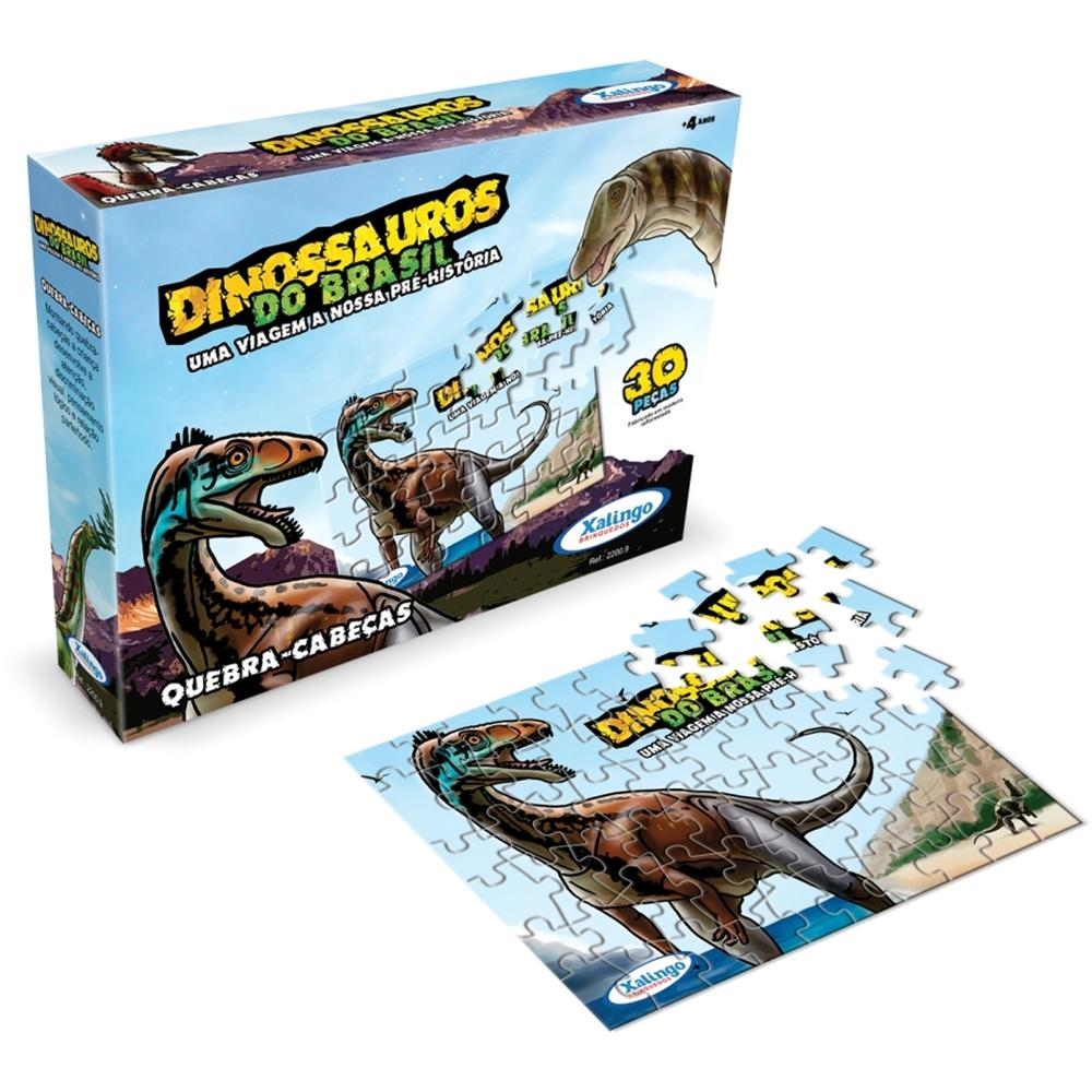 Quebra-cabeça Dinossauros do Brasil 30 Peças - Xalingo