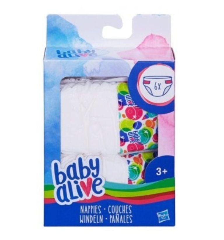 Refil Fraldas Baby Alive com 6 - Hasbro