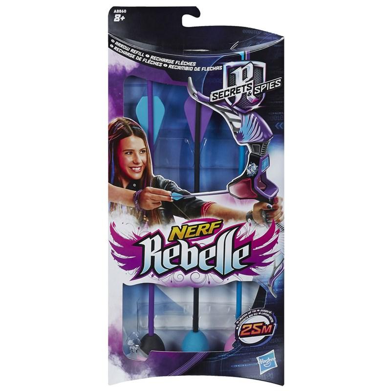 Refil Nerf Rebelle Secrets e Spies Agent Bow - Hasbro
