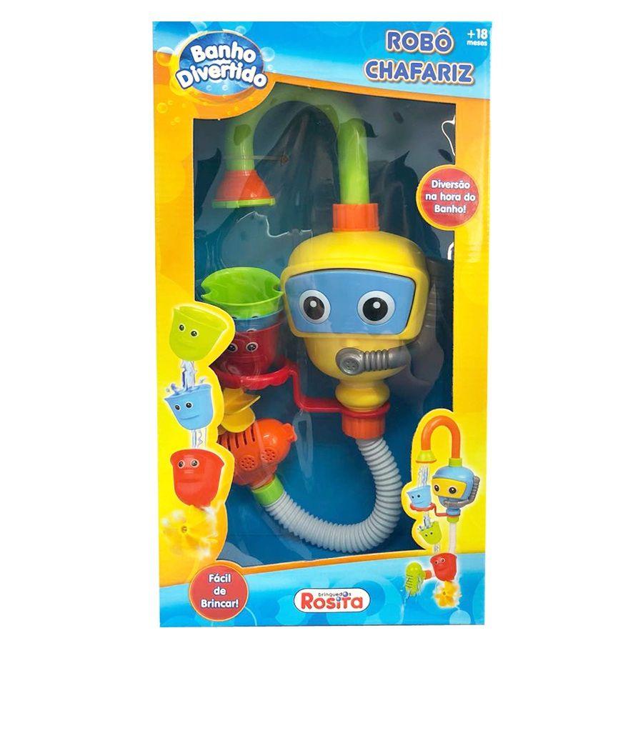 Robô Chafariz Banho Divertido - Rosita