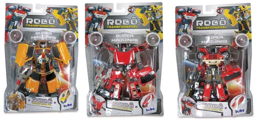 Robô Transformável Super Máquinas - Buba