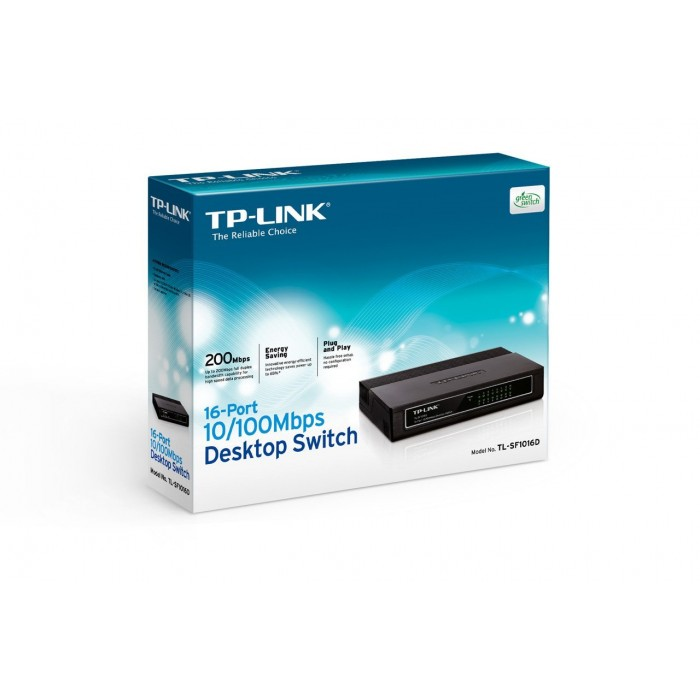 Switch 16 Portas 10/100 Mbps Tp-Link TL-SF1016D