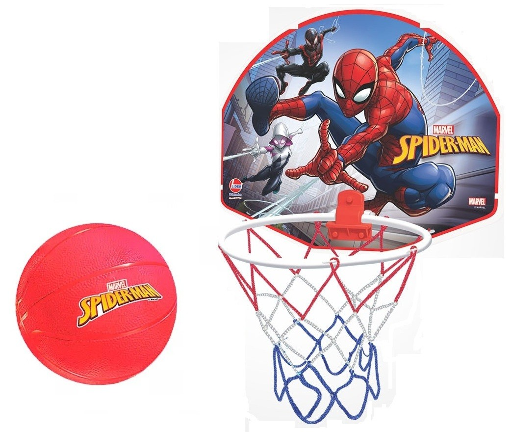 Tabela de Basquete Marvel Spider Man com Bola - Lider Brinquedos
