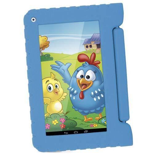 """Tablet de 7"""" Kid Pad Galinha Pintadinha - Multilaser"""
