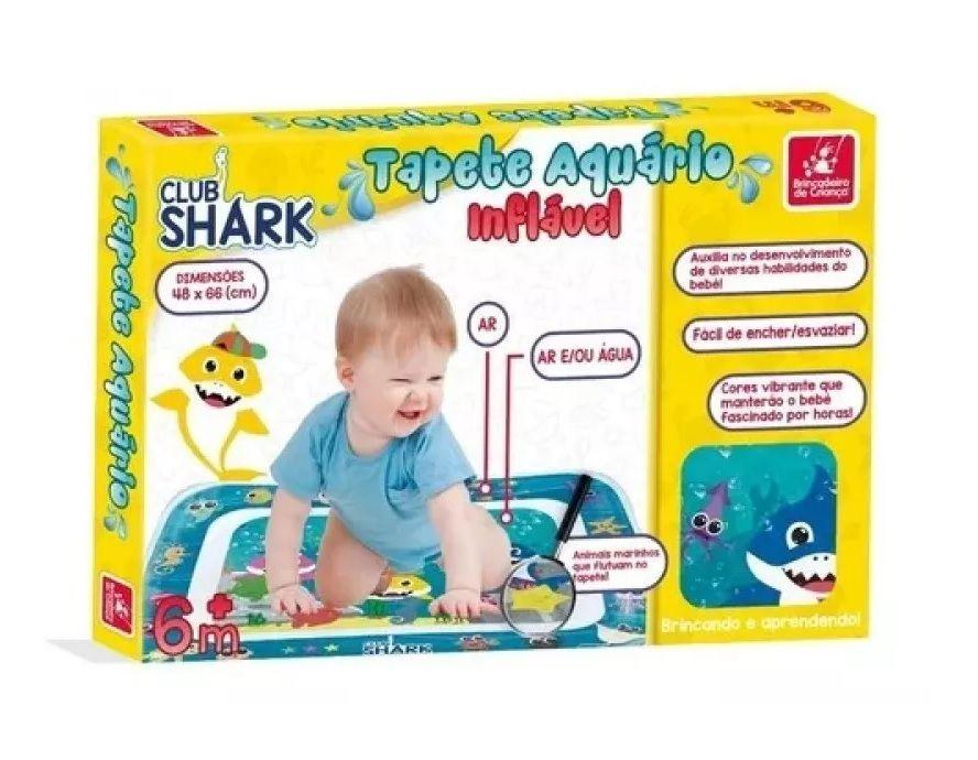 Tapete Aquário Inflável Club Shark - Brincadeira de Criança