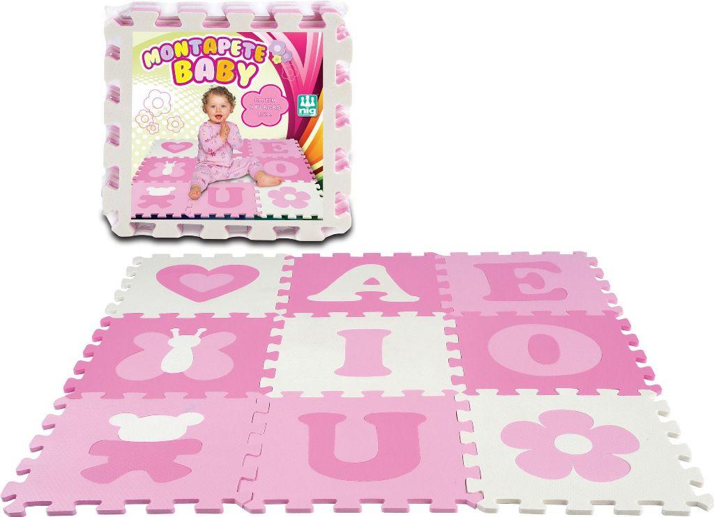Tapete E.V.A Montapete Baby Menina - Nig Brinquedos