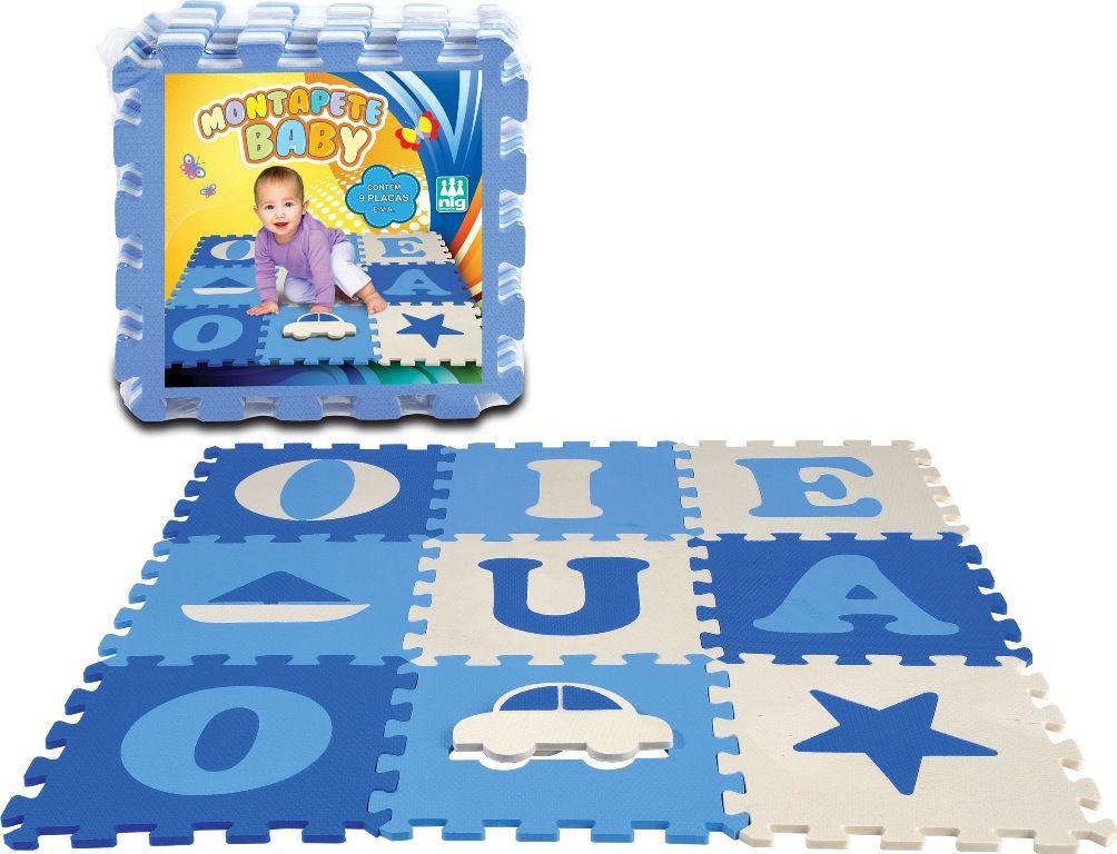 Tapete E.V.A Montapete Baby Menino - Nig Brinquedos
