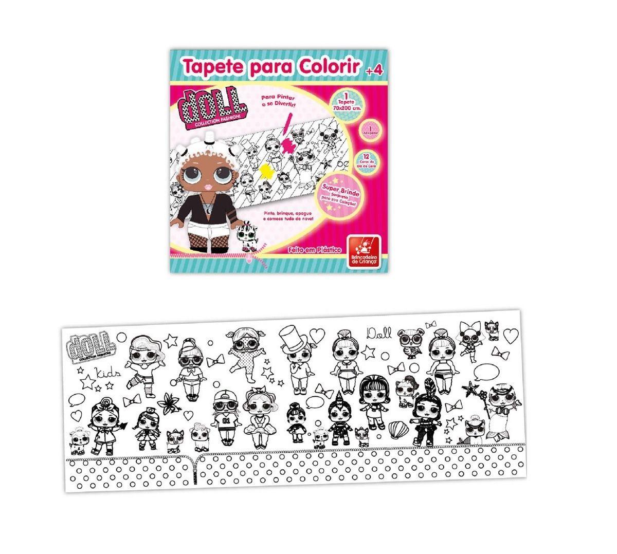 Tapete para Colorir Doll - Brincadeira de Criança