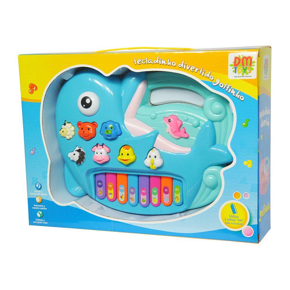 Tecladinho Divertido Golfinho - Dm Toys