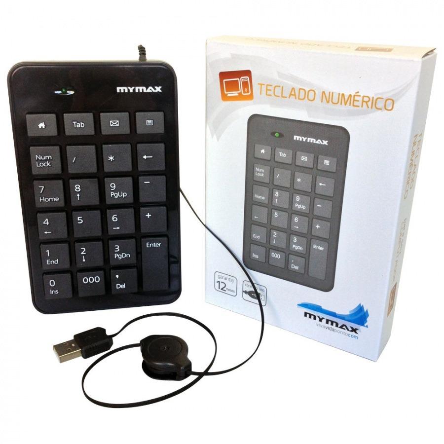 Teclado Numérico USB C/cabo Retrátil 23 Teclas - Mymax