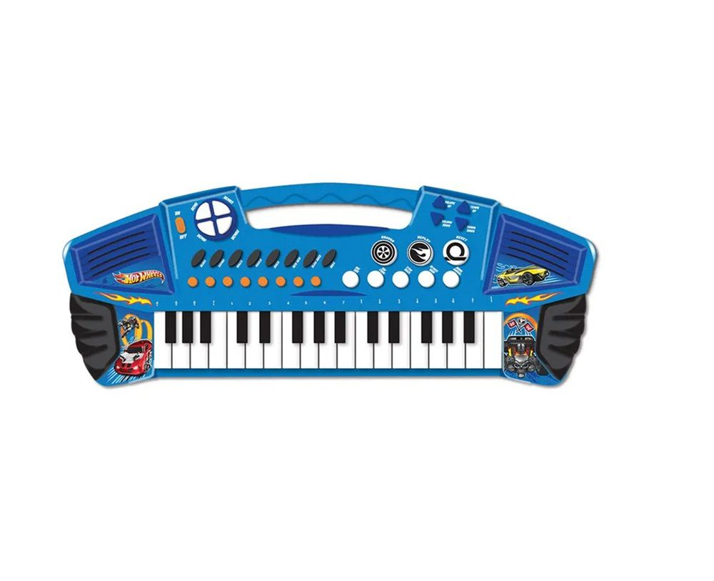 Teclado Radical Musical Hot Wheels - FUN
