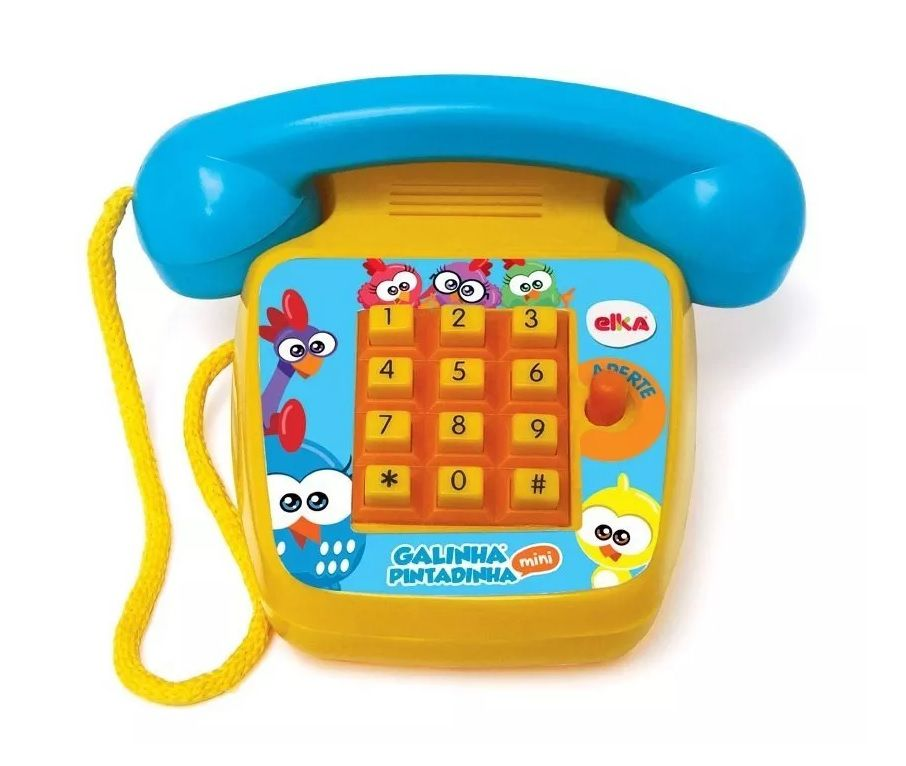 Telefone Sonoro Mini Galinha Pintadinha - Elka