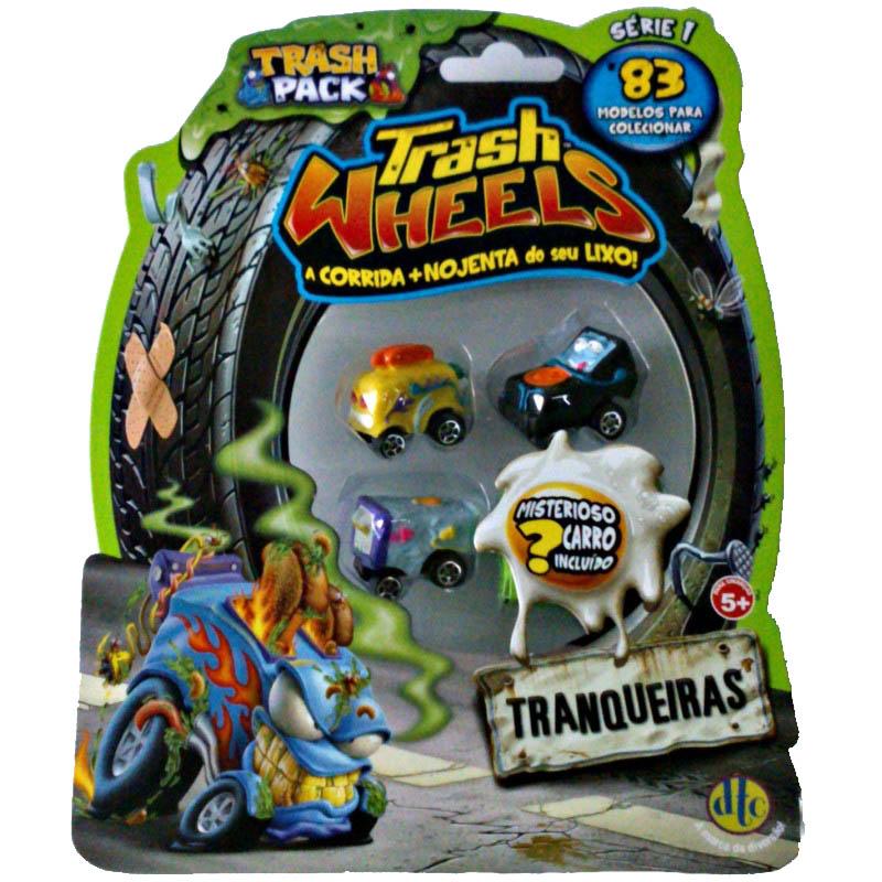 Trash Pack Trash Wheels Blister com 4 Tranqueiras Sortidos – DTC