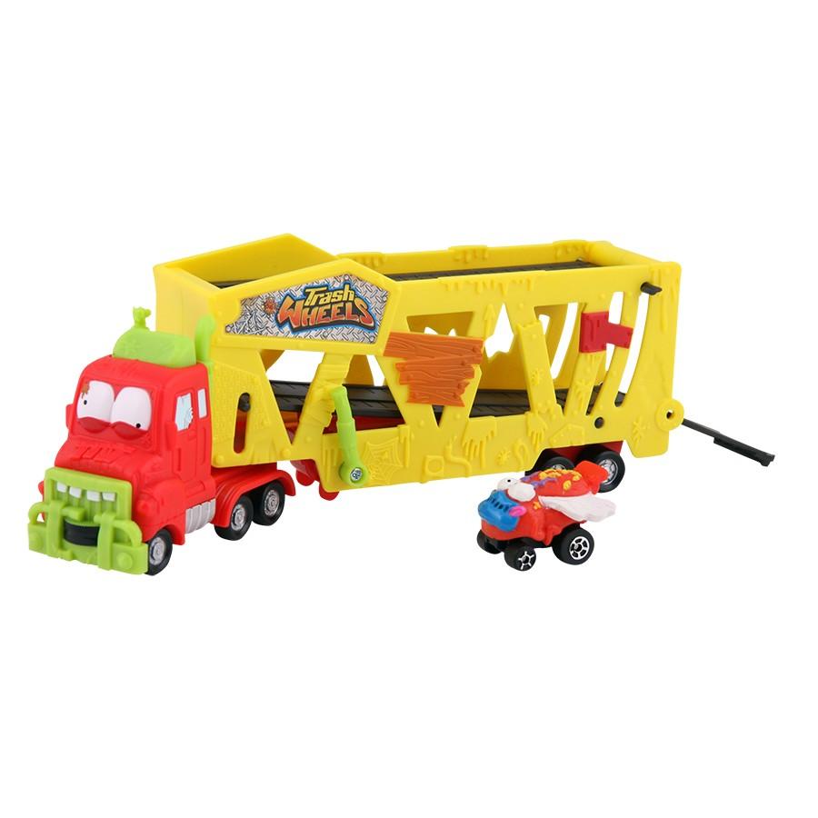 Trash Pack Trash Wheels Caminhão Cegonha com 1 Carrinho – DTC