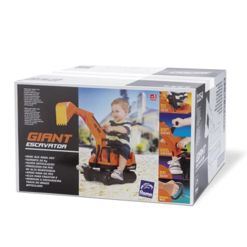 Trator Escavadeira Gigante - Roma Brinquedos
