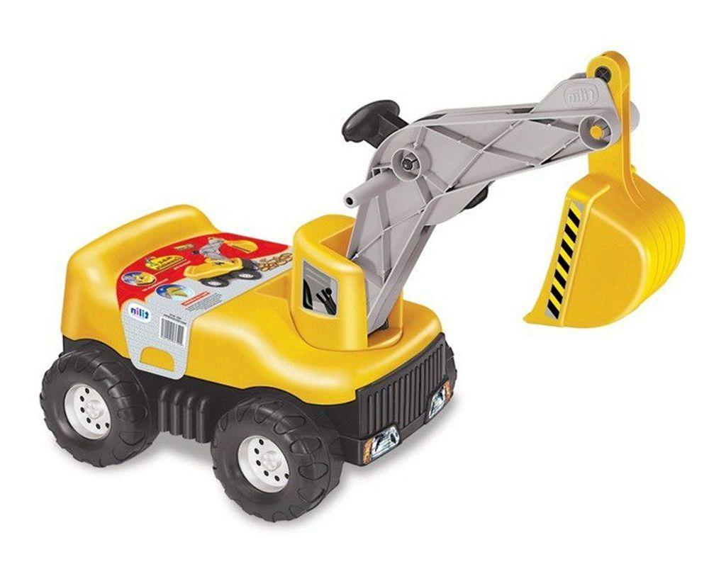 Trator Max Escavadeira Coleção Colosso com Capacete - Tilin Brinquedos