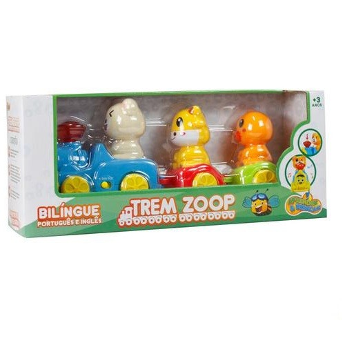 Trem Zoop Bilíngue Aprender e Brincar - Zoop Toys