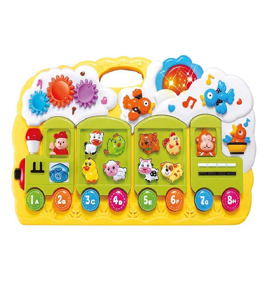 Trenzinho Brinquedo Educativo com Luz e Som - Dm Toys