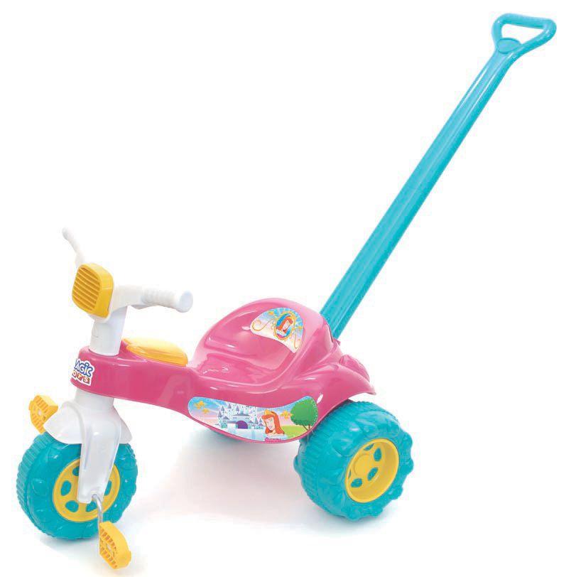 Triciclo Coleção Encantada Tico-Tico Princesa com Empurrador - Magic Toys