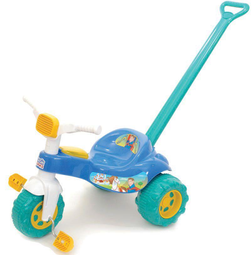 Triciclo Coleção Encantada Tico-Tico Príncipe com Empurrador - Magic Toys