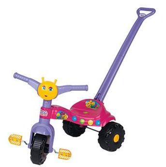 Triciclo Tico Tico Teteia com Empurrador Pink - Magic Toys
