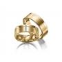 Aliança Reta 5 Pedras Banhada Ouro 24k Anatômica (par)