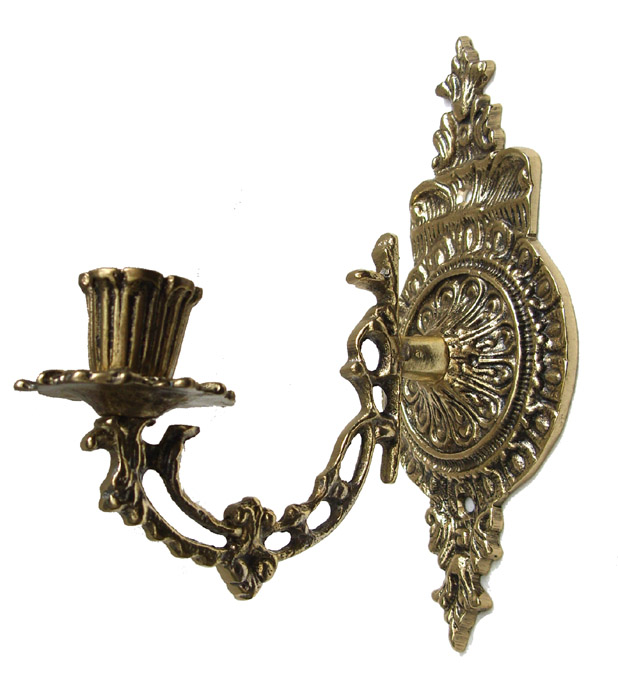 Castiçal de Parede ou Piano- 1 Vela -Bronze -  ref: 001  - BronzeShop