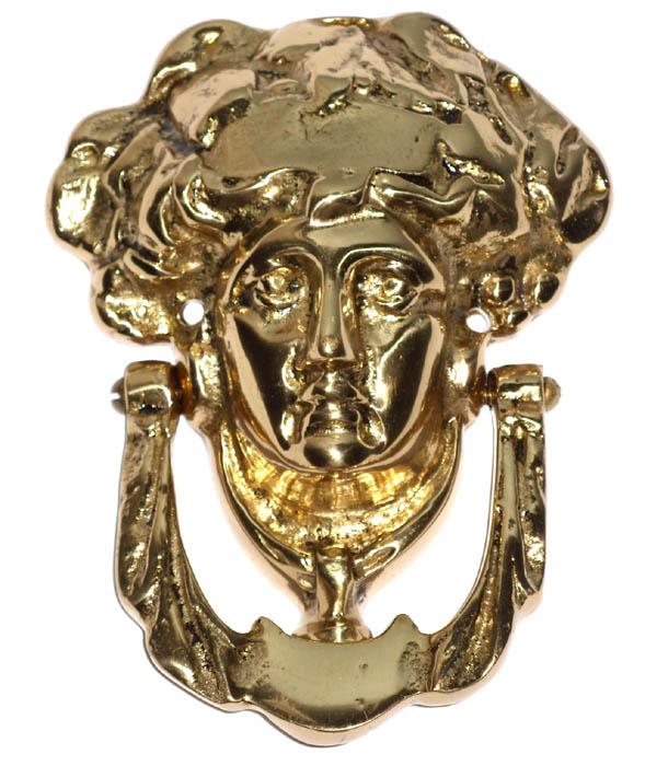 Batedor de Porta - Aldrava - Rosto de Dama - Bronze  - BronzeShop