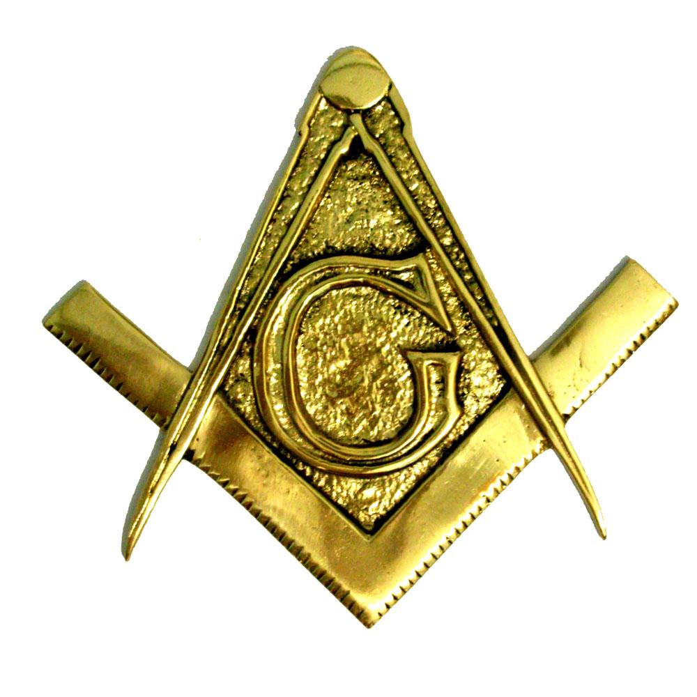 Brasão Maçonaria - Esquadro e Compasso - Bronze Maciço  - BronzeShop
