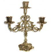 Castiçal de Mesa para  3 velas - Bronze - ref:841