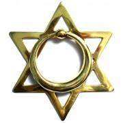 Batedor de Porta - Aldrava - Estrela de Davi - Bronze Maciço