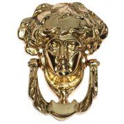 Batedor de Porta - Aldrava - Rosto de Dama - Bronze