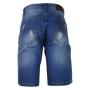 Bermuda Jeans Censura 18 Básica Azul Médio