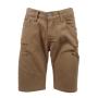 Bermuda Jeans Color Rasgado Caqui