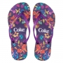 Chinelo  Coca-Cola Painted Flowers