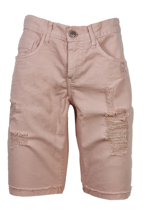 Bermuda Jeans Color Salmão