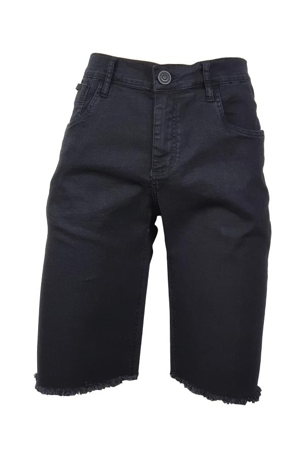 Bermuda Jeans Preto