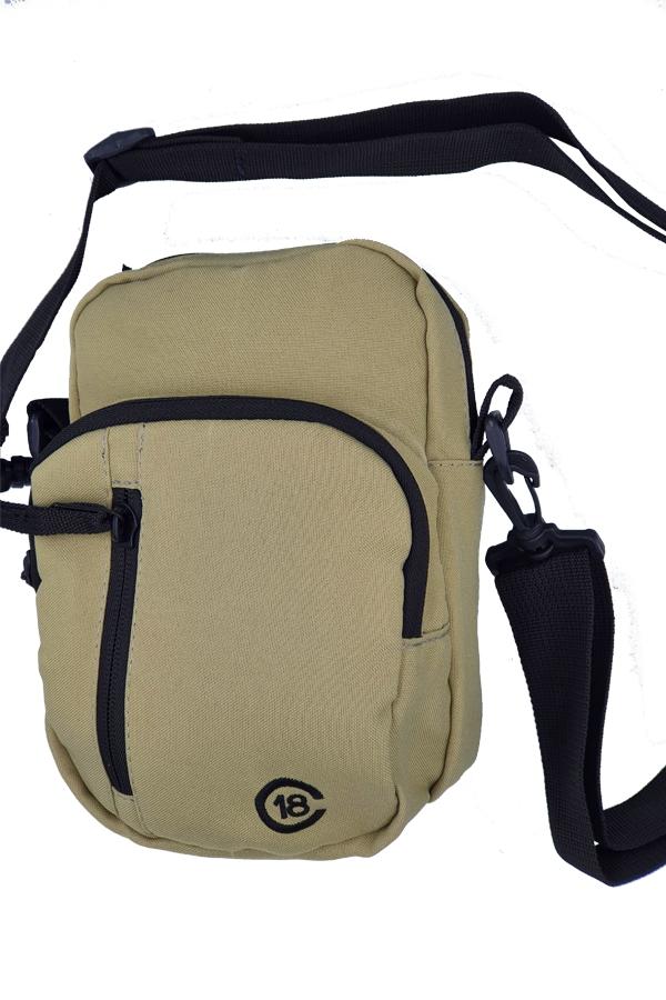 Bolsa Censura 18 Lateral  3 Bolsos Khaki